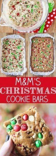 M&M'S Christmas Cookie Bars Recipe Best Holiday Cookies, Holiday Cookie Recipes, Holiday Baking, Christmas Desserts, Christmas Treats, Holiday Treats, Christmas Parties, Christmas Christmas, Holiday Gifts