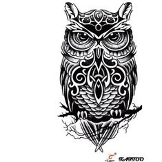 2017 trend Geometric Tattoo - celtic owl Check more at http://tattooviral.com/tattoo-designs/geometric-designs/geometric-tattoo-celtic-owl/