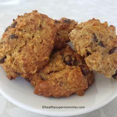 Deliciosas galletas de almendra con chips chocolate. Un excelente #snacksaludable