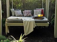 After Photo 3: The floating daybed is perfect for reading a book or taking a nap in the garden.