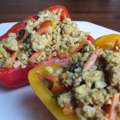 Curry Stuffed Peppers