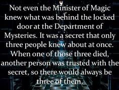 Department of Mysteries, HP - headcanonsforpotterheads