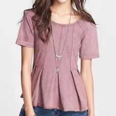Free People Pleated Drifter Top Brand new with tags! Beautiful top I just have too much in this color. I bought this at Nordstrom Rack so the attached tag is not the original FP one. No trades! Free People Tops Tees - Short Sleeve