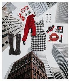 """NY!"" by alethea-leondakis on Polyvore featuring Moschino, Donald J Pliner, Gelareh Mizrahi, Byron Lars, Gucci, NARS Cosmetics, Kenzo, Bond No. 9, Miss Selfridge and Casetify"
