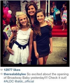 Ya know what!?!?!?! I hate it on dance moms how they malé it look like anonym doesnt care about The girls, when she really does. I mean  look at this!!!!!!!!!!