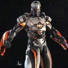 "cyberclays: "" Iron-Man: Mark 101 - fan art by mars … "" Marvel Heroes, Marvel Characters, Marvel Avengers, Marvel Comics, Iron Man Art, Marvel Images, Iron Man Avengers, Arte Robot, Comic Manga"