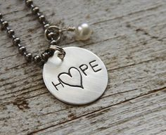 Hope Necklace by The Rusted Chain to remind me to never stop fighting for my health and life!!!