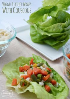 Recipe: Veggie Lettuce Wraps With Couscous | Family Gone Healthy