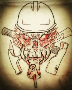 Roofer Tattoo Design