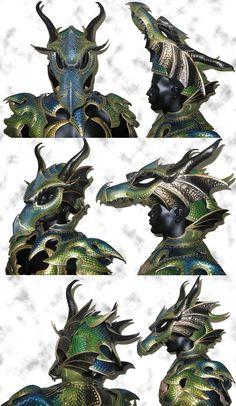 Dragon Armor Helmet by Azmal.deviantart.com