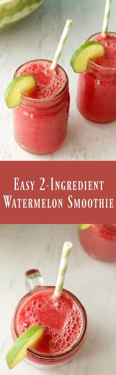 Easy 2-Ingredient Watermelon Smoothie