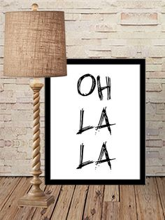 Oh La La  Print Oh La La Art Printable Art by sweetdownload