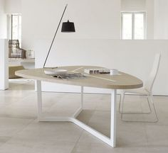 Contemporary table / metal / MDF / indoor SEVEN B&B Italia