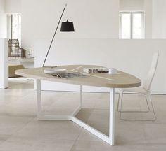Contemporary table / metal / MDF / indoor SEVEN B&B Italia