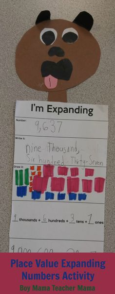 Place Value Expanding Numbers Activity with FREE Template
