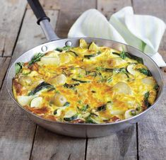 Spinach, Potato & Courgette Fritatta Recipe: Cook Vegetarian Magazine