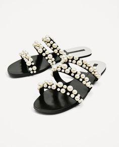 Sandales plates Zara