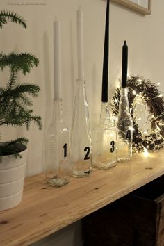 Advent candles, christmas decoration, xmas