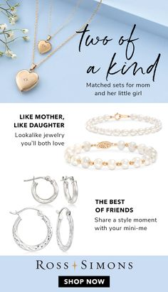 9949349cd Two Of A Kind: Matched Sets For Mom & Her Little Girl. Mom & Me Jewelry ...
