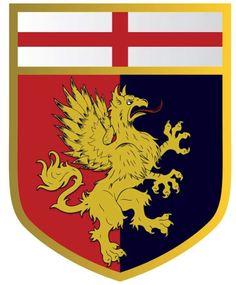 Genoa Cfc, Ferrari Logo, Coat Of Arms, Premier League, Patches, Football, Logos, Red, Soccer