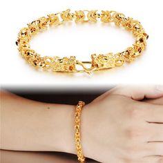 Jewelry K Gold Plated Domineering Ssangyong Men's Bracelets Leading Buckles KS