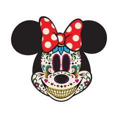 Minnie of the Dead Tinkerbell And Friends, Mickey Mouse And Friends, Mickey Minnie Mouse, Sugar Skull Art, Sugar Skulls, Disney Day, Disney Cruise, Disney Trips, Rockabilly Art