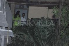 Aishwarya Rai Bachchan is snapped celebrating 'Karwa Chauth' at her home in Mumbai. Also seen are her mother-in-law Jaya Bachchan and father-in-law Amitabh Bachchan.