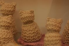 K's kitty made in 1st grade handwork (Waldorf) by Frontier Dreams, via Flickr