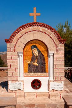 Memorial Shrine to Ayios (Saint) Nektarios who died on Aegina in Greek Saronic Islands Religious Icons, Religious Art, Chios, Greek Culture, Hagia Sophia, Orthodox Christianity, Orthodox Icons, Greek Islands, Pictures Images