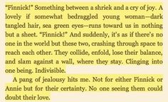 I want a love like Annie and Finnick.....except at the end of Mockingjay....