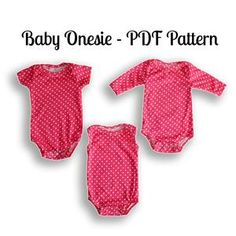 PDF Onesie pattern for baby Nb-36 months. Great for beginners. 9 sizes for FITTED onesies and 9 sizes for COMFY onesies. Learn how to make baby onesies fast and easily today!
