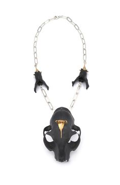 Bast one of kind necklace $1000 cat skull and cat bones available at www.eilisainjewelry.com @portfoliobox
