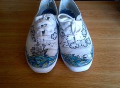 You have to check out this girl's shoe art.  Incredible.