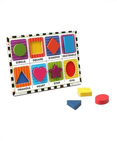 Look what I found on #zulily! Melissa & Doug Shapes Chunky Puzzle by Melissa & Doug #zulilyfinds