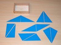 Les 1: Driehoeken onder de aandacht: Blauwe driehoeken   Montessoriwerkjes   Lisette van Boheemen
