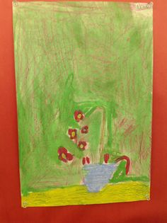 wax-resist water color drawing Third Grade Artist