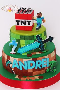 Constructing Minecraft Cake Designs and Block Party Ideas ...