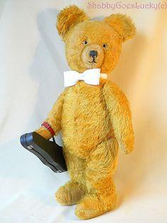 Large antique German Teddy Bear 1930s Richard by ShabbyGoesLucky, €260.00