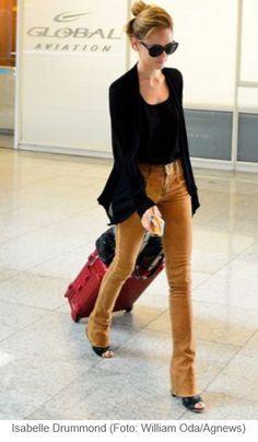 Isabelle Drummond - look aeroporto casual chic
