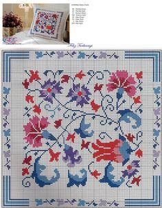 Designed and stitched by Filiz Türkocağı Cross Stitch Charts, Cross Stitch Designs, Cross Stitch Patterns, Diy Embroidery, Cross Stitch Embroidery, Embroidery Patterns, Blackwork, Cross Stitch Geometric, Cross Stitch Cushion
