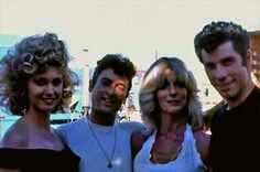 Who is that woman? Grease 1978, Grease Movie, Grease 2, 90s Movies, Good Movies, Danny And Sandy Grease, Original Mickey Mouse Club, Grease Is The Word, Olivia Newton John