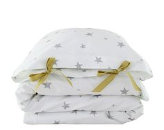 ORGANIC Toddler Bedding set stelle grigio di ColetteBream