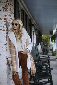 Velvet Pants: Frame. Boots: Old, but very similar here for under $150. Corduroy Blazer: Veronica Beard. Coat: Topshop (also in Lilac and Pink! Also similar here). Sweater: Old, similar here (also in pink). Scarf: Mark...Read More