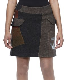 Black & Brown Patchwork Skirt
