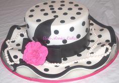 Lady's Hat cake - Chocolate Fudge cake with Peanut butter Buttercream and chocolate fudge buttercream. TFL