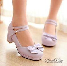 Princess Style Thick Heel Lolita Shoes Free Ship SP140490 - Thumbnail 3