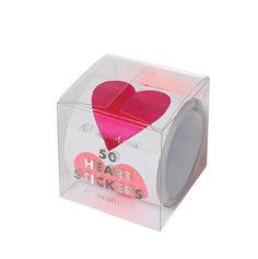 Pink Hearts Sticker Set