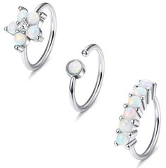 Pair of Dynamique Snake Wrapped Around Opal Glitter Center 316L Surgical Steel Barbell Nipple Rings