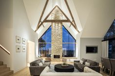 """Private Residence, Oxfordshire - dpa lighting consultants - """"Right Light, Right Place, Right Time"""" ™ Lounge Lighting, Linear Lighting, Living Room Lighting, Interior Lighting, Lighting Design, Residential Lighting, Spotlights, Downlights"""