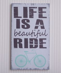 Mint Green 'Life Is Beautiful' Canvas | something special every day